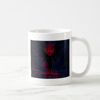 Taza De Café Rojo angelical y azul del guarda