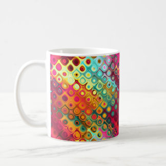 Taza De Café Rojo colorido fresco, arco iris del modelo de