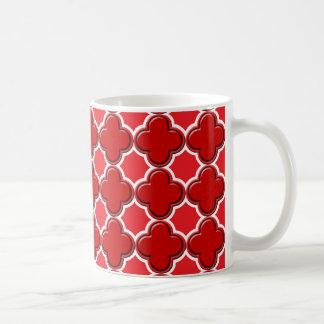 Taza De Café Rojo del modelo 2 del trébol