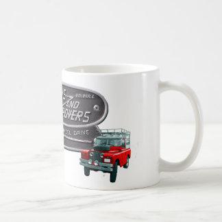 Taza De Café Rojo Rover de los armas y de los vagabundos