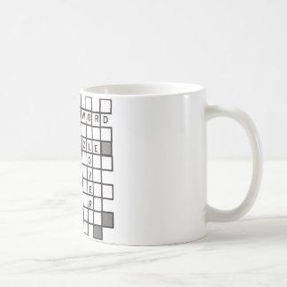 Taza De Café rompecabezas cruzado de la palabra