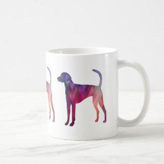 Taza De Café Rosa de la silueta del modelo de Geo del raposero