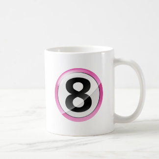 Taza De Café ROSA del número 8