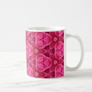 Taza De Café Rosas fuertes y modelo color de rosa abstracto