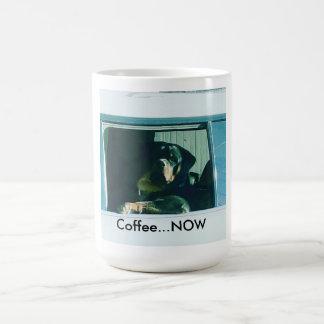 """Taza De Café Rottweiler """"café AHORA"""" asalta"""