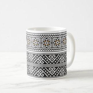 Taza de café RUMANA del ARTE POPULAR