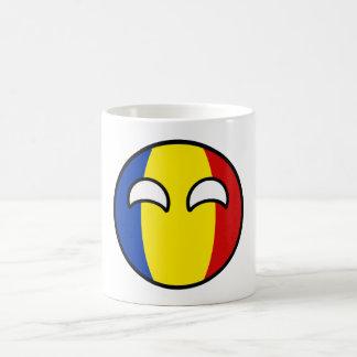 Taza De Café Rumania Geeky que tiende divertida Countryball