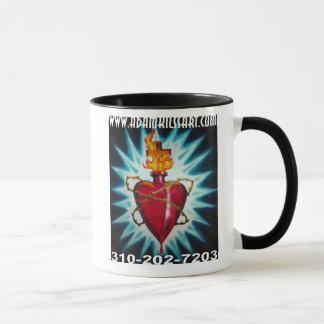 Taza de café sagrada del corazón