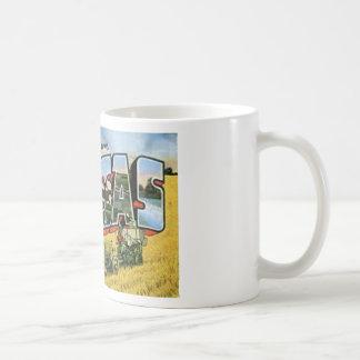 Taza De Café Saludos de Kansas