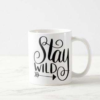 Taza de café salvaje de la estancia