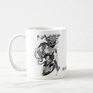 Taza De Café Samurai del geisha