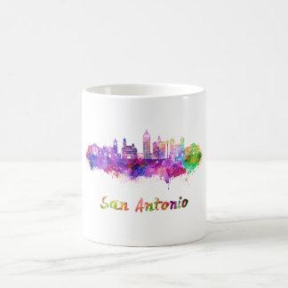 Taza De Café San Antonio V2 skyline in watercolor