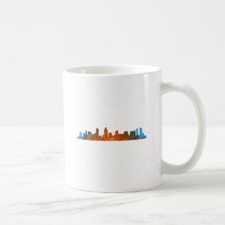 Taza De Café San Diego California City Skyline Watercolor v01