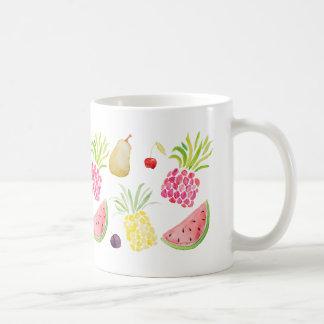 Taza De Café Sandía de la piña de la cereza de la fruta de la