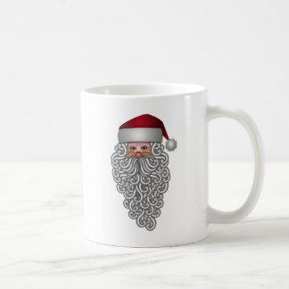 Taza De Café Santa en navidad rizado de la barba