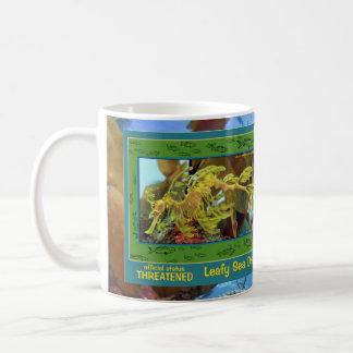 Taza De Café Se pone en peligro el dragón frondoso del mar