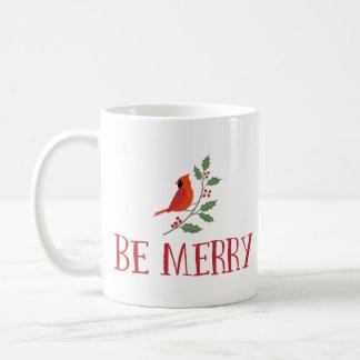 Taza De Café Sea Felices Navidad cardinales