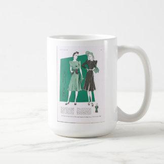 Taza De Café Señora Classic White Mug de la moda de Butterick