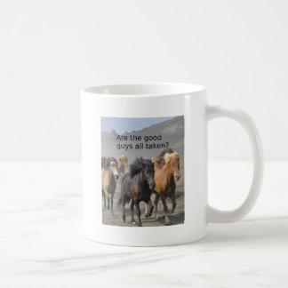 Taza De Café Señora Horse Gossip: ¿Son los buenos chico tomados