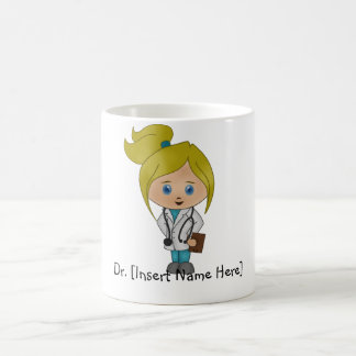 Taza De Café Señora linda personalizada el doctor Mug - Blonde