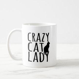 Taza De Café Señora loca del gato