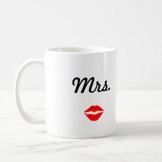 Taza De Café Señora Mug con los labios