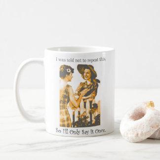 Taza De Café Señoras divertidas del chisme con su nombre