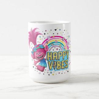 Taza De Café Sensación feliz de la amapola de los duendes el |
