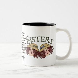 Taza de café sentimental del poema de la hermana