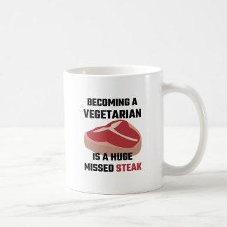 Taza De Café Sentir bien a un vegetariano es un filete faltado