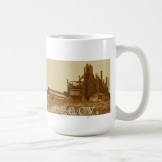 "Taza De Café Sepia-tono de la ""herencia"" de Bethlehem Steel"
