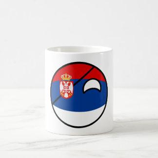 Taza De Café Serbia Geeky que tiende divertida Countryball