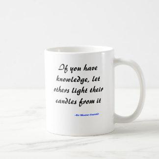 Taza De Café Si usted tiene conocimiento, deje otros encender