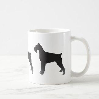 Taza De Café Silueta del ejemplo de la raza del perro del