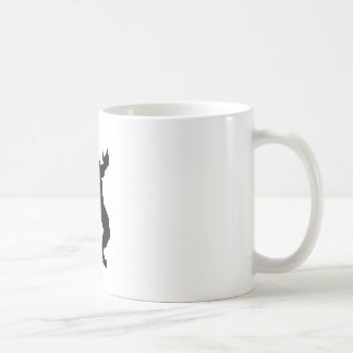 Taza De Café Silueta del hombre lobo