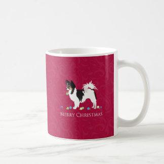Taza De Café Silueta del navidad de la raza del perro de