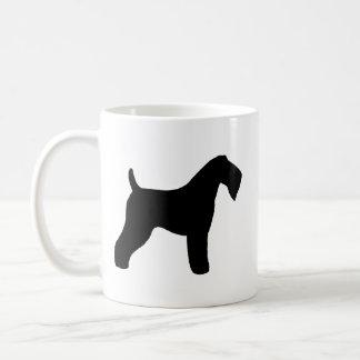 Taza De Café Siluetas de Terrier de azul de Kerry