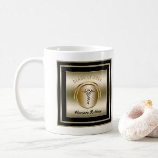 Taza De Café Símbolo del caduceo de la fiesta de graduación el