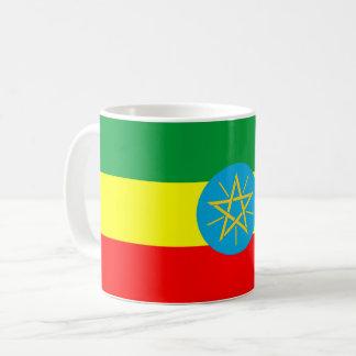 Taza De Café símbolo largo de la bandera de país de Etiopía