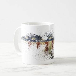 Taza De Café Símbolo patriótico calvo de Eagle de la bandera