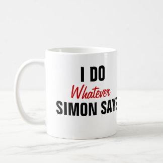 Taza De Café Simon dice