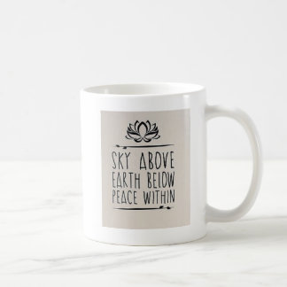 Taza De Café sky and heart Mug