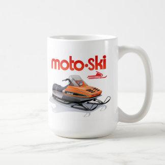 Taza De Café snowmobile del esquí del moto