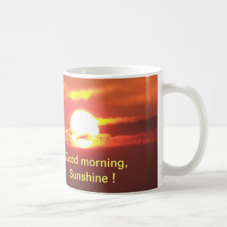Taza De Café Sol de la buena mañana
