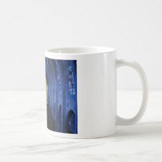 Taza De Café sombras de la iglesia azul marino