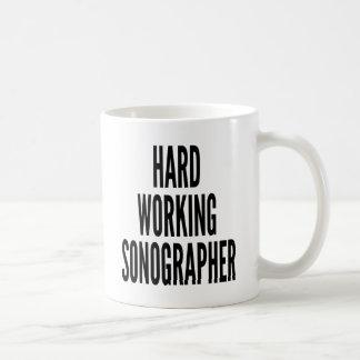 Taza De Café Sonographer de trabajo duro