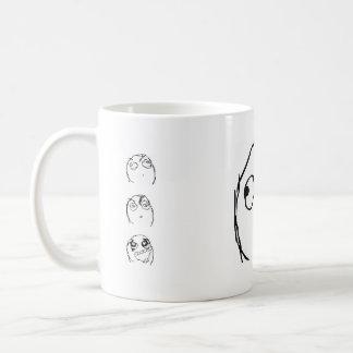 Taza De Café Sonrisa del individuo de la rabia