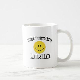 Taza De Café Sonrisa si usted ama el ser musulmán