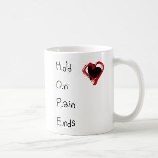 Taza De Café Sosténgase en extremos del dolor