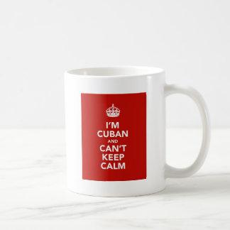 Taza De Café Soy cubano y no puedo guardar calma
